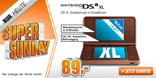 SATURN SUPER SUNDAY heute Nintendo DSi XL, SAMSUNG LED TV, PHILIPS Senseo u.a.