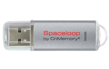 CNMEMORY 32GB USB 2.0 Spaceloop Silver 85328