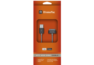 XTREME MAC Kabel XtremeMac USB 30Pin Cable 1,20m iPhone/iPod, schwarz, grau