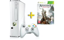 MICROSOFT Xbox 360 4GB weiß + Assassins Creed III
