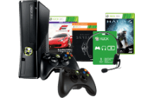 MICROSOFT Xbox 360 250 GB + Halo 4 + Forza Motorsport 4 Essentials Edition + Sky