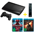 SONY PS3 Super Slim 12GB + Fernbedienung + Spider-Man + Dark Knight Rises PS3 Konsolen