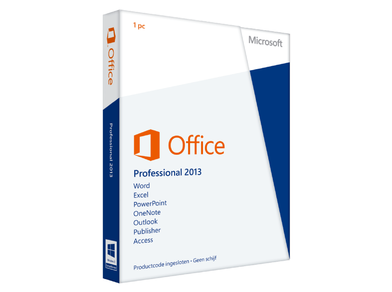 Microsoft software office professional 2013 nl