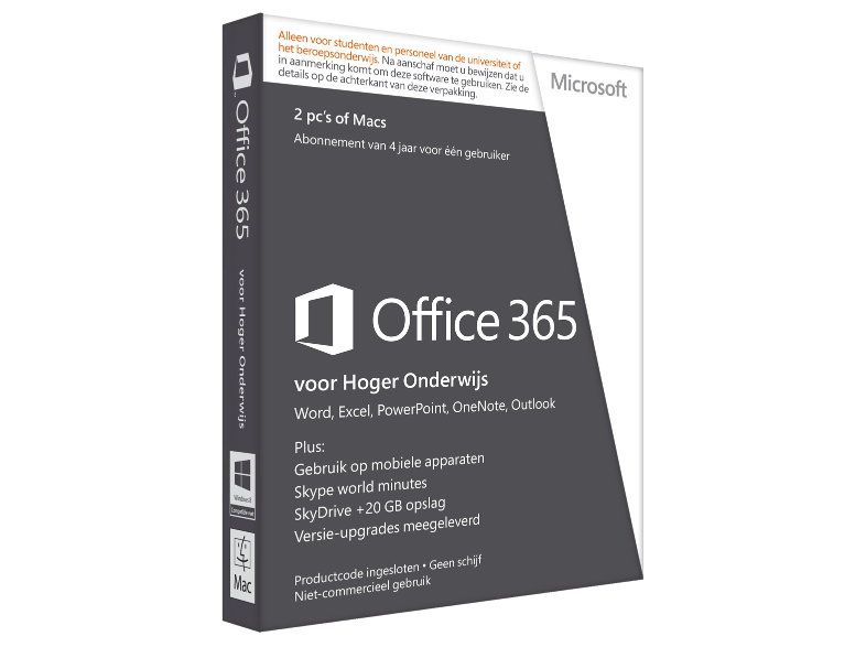 Microsoft software office 365 university nl