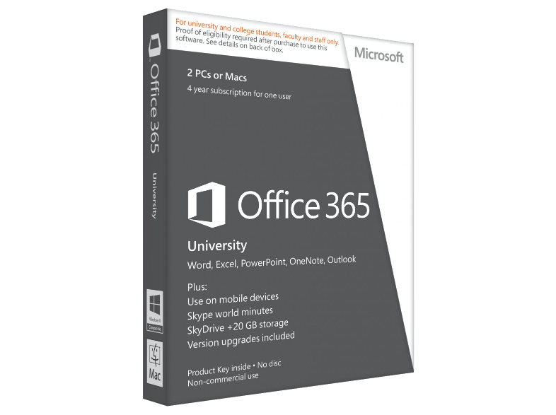 Microsoft software office 365 university...