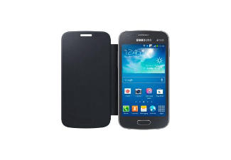 SAMSUNG Galaxy Ace 3 Flip Cover Zwart
