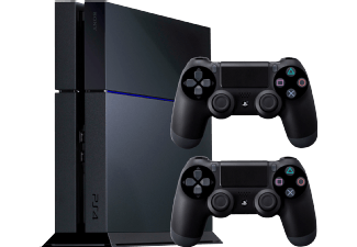 sony ps4 konsole 2 dualshock 4 controller. Black Bedroom Furniture Sets. Home Design Ideas