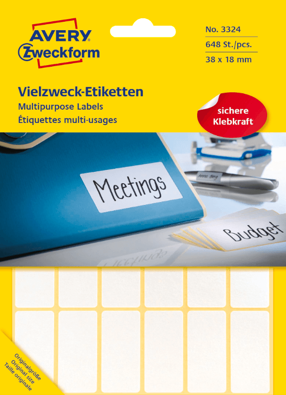 ZWECKFORM 3324, Mini-Organisations-Etiketten