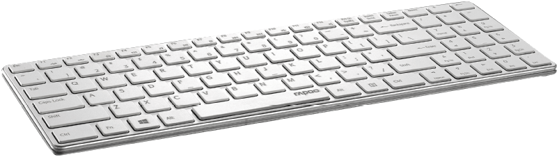 RAPOO E9100P - Wireless Ultra-Slim Keyboad silber , Silber