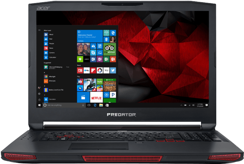 ACER Predator 17 X (GX-792-70DR), Gaming-Notebook mit 17.3 Zoll Display, Core i7 Prozessor, 64 GB RAM, 1536 SSD, 2000 HDD, NVIDIA GeForce GTX 1080