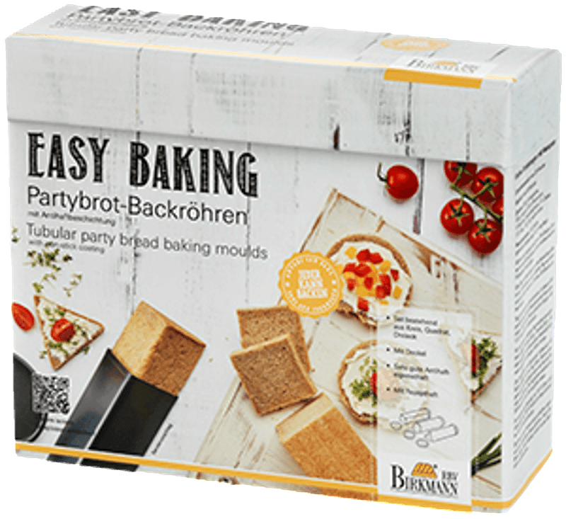 RBV BIRKMANN 210189 Easy Baking 3-tlg., Partybrot-Backröhren-Set