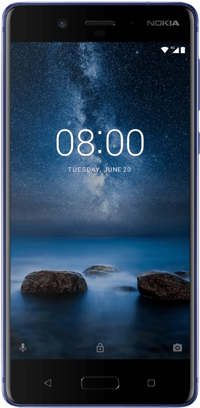 NOKIA 8, Smartphone, 64 GB, 5.3 Zoll, Polished Blue
