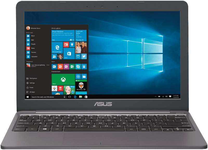 ASUS E203NA-FD029TS, Netbook mit 11.6 Zoll Display, Celeron Prozessor, 4 GB RAM, 32 eMMC, HD-Grafik 500, Star Grey