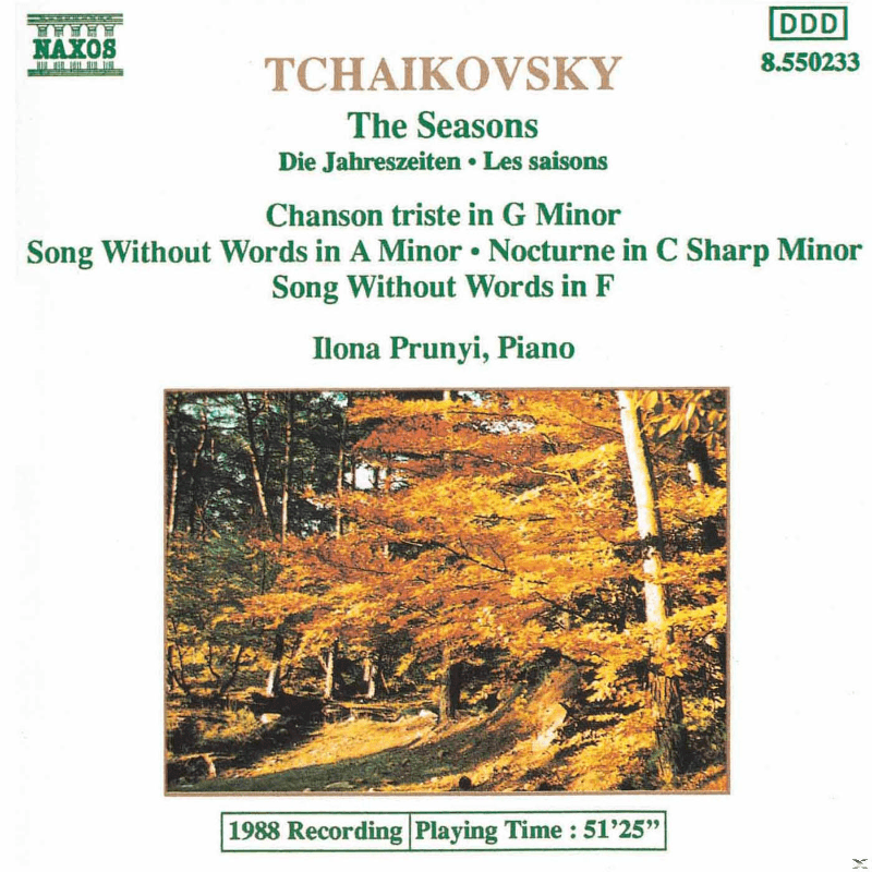 Ilona Prunyi - Tchaikovsky: The Seasons (CD)