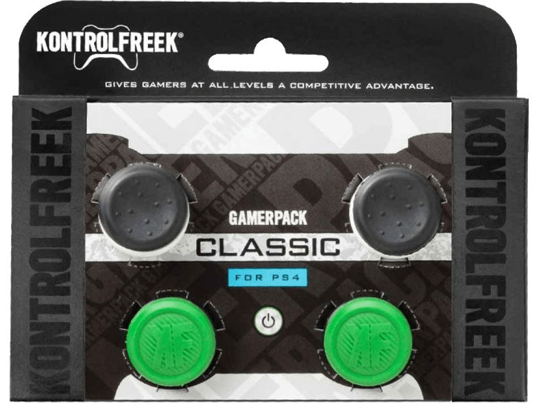 KONTROLFREEK Grips GamerPack Classic pour joystick manette PS4 (3008-PS4)