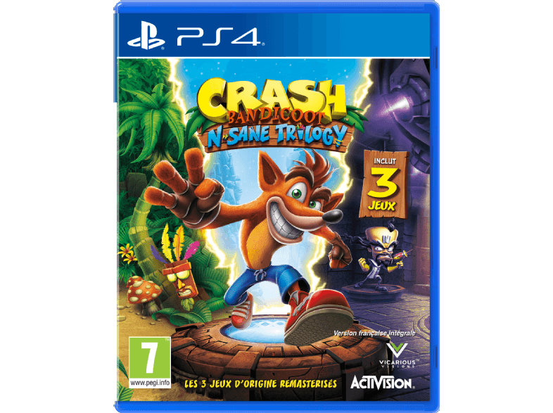 ACTIVISION Crash Bandicoot N. Sane Trilogy FR PS4